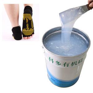 Líquido de socks Silicone orgânico para meias Serigrafia Revestimento Non-Slip