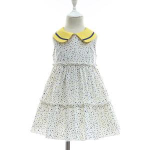 a616d3b72 Nueva Primavera Verano 2019 Preciosa 100% algodón vestido de Lunares  Sleevless chica para niños