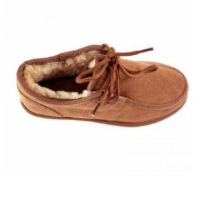 Peau de mouton mérinos australien de haute qualité Hommes chaussures à la cheville Shoelace