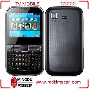 低価格の鍵を開けられた二重SIM TVの携帯電話C3222