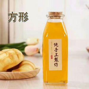 bottiglia di vetro quadrata della spremuta 350ml/bottiglia della bevanda
