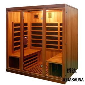 Joda Sauna Sauna de madera maciza de 4 personas en el interior de cabina de sauna