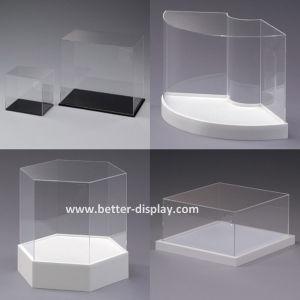 Acrílico transparente personalizados caixas de apresentação