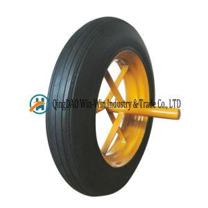 14X4 rubberWielen Wielen van het Poeder van 14 Duim de Rubber voor het Karretje van de Kruiwagen