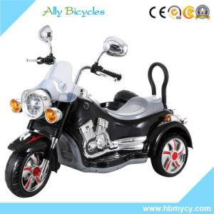 LEDの警察の電気電池式の子供3の車輪のおもちゃのオートバイ