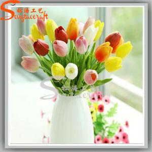 Vision de la soie artificielle de décoration de jardin de fleurs de mariage de commerce de gros Fake tulipes