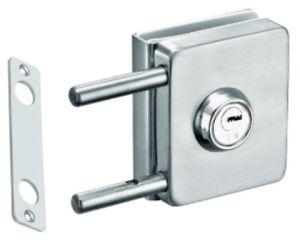 Vidro corrediço de porta de vidro em aço inoxidável de bloqueio de parafuso (FS-241)