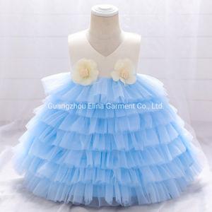 Fancy bebé vestir niñas parte Bola de prendas de vestir Princesa vestido de Levita dulce vestido de encaje mullidas