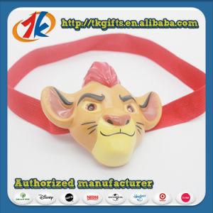 Figurine en plastique drôle Animal Lion jouet de la lampe de tête
