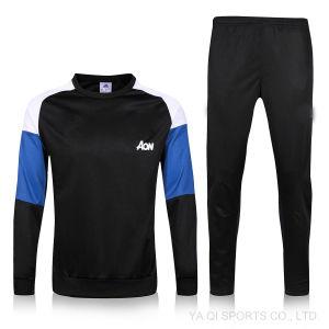 安いトラックスーツの人の冬のトレーニングのスーツの卸売のブランクのサッカーのジャージ