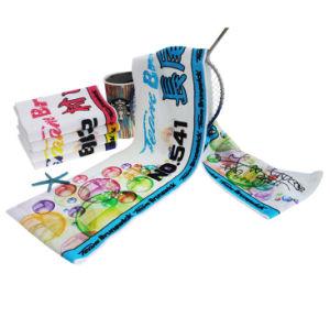 El algodón impresos regalo de promoción personalizada de colores Deportes Toalla de Gym Fitness