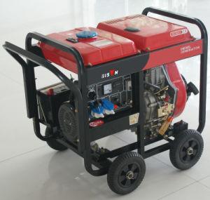 Bison (China) BS6500dce (H) 5kw 5kVA 1 Jahr-Garantie-kleiner beweglicher Dieselschweißens-Generator 3 Phasen-Generator