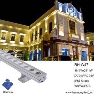 Nouvelle conception IP65 24W 18W à LED de la rondelle de paroi
