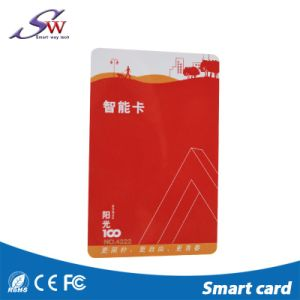 RFID Hf 13.56MHzのRewritable透過ブランクスマートカード