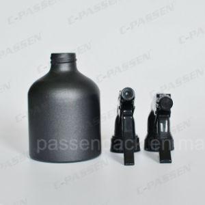 Botella de aluminio negro mate personalizado con el activador en aerosol (PPC - ACB-014)