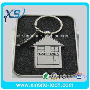 キーチェーン付きメタルハウスモデルのUSBフラッシュドライブ( XST - U021 )