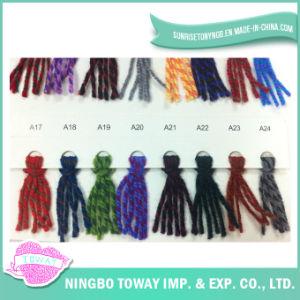 Mezclas de tejer a mano de lujo de lujo de lana hilo para tejer la bufanda