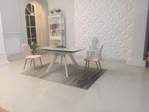 Extensão de metal rotativo de fábrica de vidro de mesa Refeitório mobiliário para o contratante