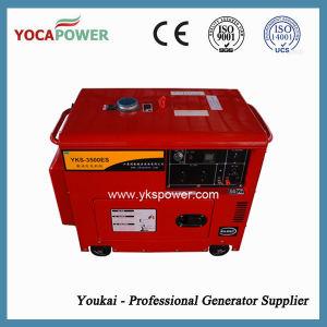 Gruppo elettrogeno diesel silenzioso rosso del motore diesel di potere 3kVA