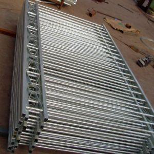 販売/塀のための電流を通された鋼管の塀/安く錬鉄の塀のパネルは正方形の管にパネルをはめる