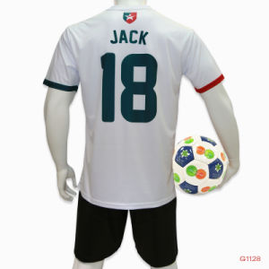 Uniformi di calcio dei ragazzi di banco della Jersey di gioco del calcio di sublimazione della Jersey di calcio di usura della camicia di calcio dell'abito
