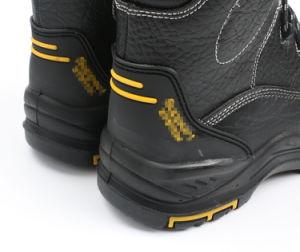 High-Cut rojizo de cuero auténtico Puntera Zapato de seguridad