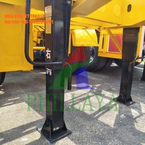 Tri-Wellen Behälter-Transportvorrichtung-skelettartiger halb Schlussteil mit Behälter-Verschluss
