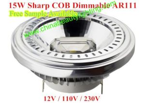 15W COB LED Dimmable AR111