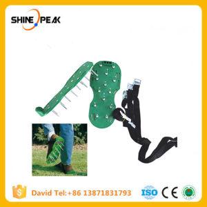 Pelouse verte aérateur chaussures sandales pelouse aérateur cultivateur de jardin avec boutons de métal drôle d'outils de jardin Chaussures AMH161