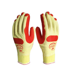 Katoenen van de Palm van het Latex van de Opbrengst van de fabriek de Industriële Blauwe Gelamineerde Handschoenen van het Werk