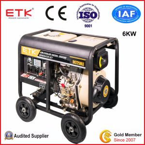 비상사태를 위한 6kw 전기 발전기를 사용하는