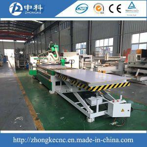 Mobiliário de madeira produzindo CNC linha com a função do ATC