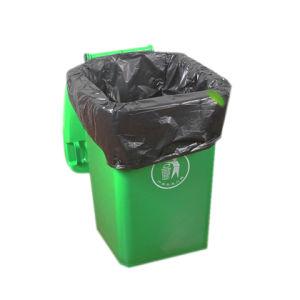 HDPE 까만 플라스틱 쓰레기 봉지, 청소를 위한 휴대용 비닐 봉투