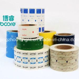 El papel impreso el logotipo de laminado de polipropileno envases de palos de la bolsita rollo de película