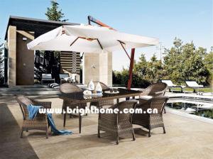熱い販売の柳細工の屋外の食事の家具Bp3017