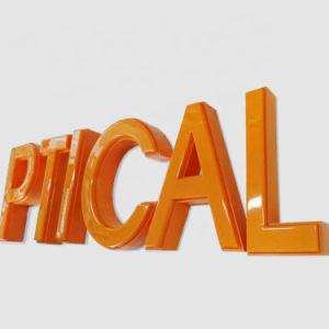 Publicidade exterior vácuo plástico formado assinar carta de canal de LED de luz