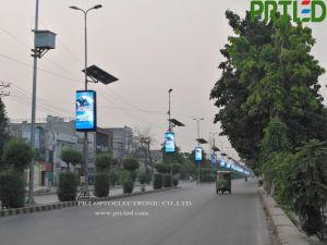 Éclairage de rue Pole/ colonne affiche l'écran LED de support de plein air avec un téléphone intelligent Design (P4, P5, P6).