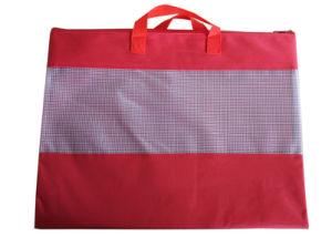 Sac de maille en polyester avec poignée, B4, couleur unie