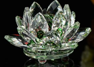 Best Selling Home Decoração Automóvel Crystal Lotus Artesanato