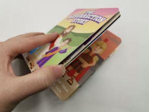 Dessin animé personnalisé carte blanche à couverture rigide livre de coloriage pour enfants