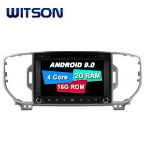 Processeurs quatre coeurs Witson Android 9.0 DVD de voiture GPS pour Kia Sportage 2016 construit en fonction DVR
