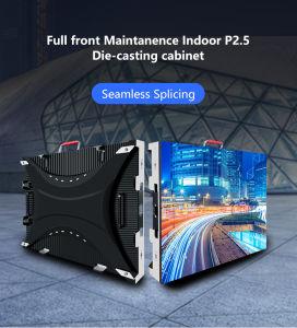 P2.5 Цветной плоский переднее для использования внутри помещений дисплей со светодиодной подсветкой экрана