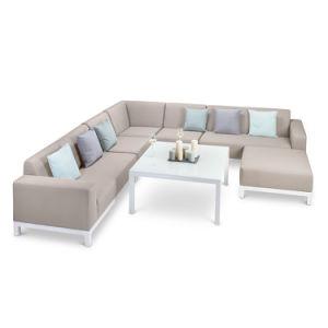 L'EXTÉRIEUR Tissu canapé de coupe en aluminium des meubles de jardin