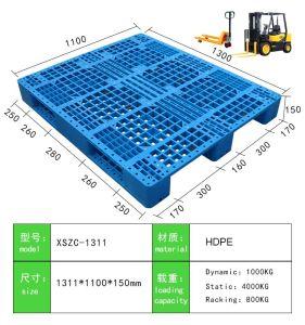 4-manier KringloopHDPE Plastic Pallet/Dienblad voor Al Afmeting die in Pakhuis, Vervoer van de Logistiek, het Rekken wordt gebruikt
