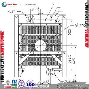 専門にする中国の製造業者はラジエーターの熱交換器のさまざまなサイズに合った