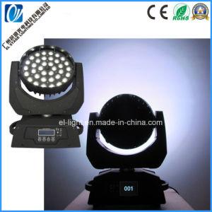 Lavado de LED de alta potencia LED Cabezal movible de haz de luz tenue con funciones de zoom