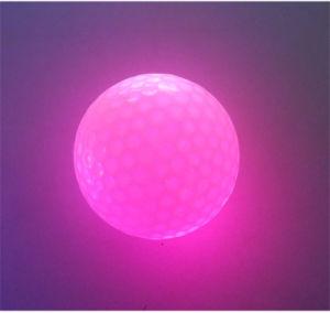Logotipo personalizado Linterna luminosa reutilizable bolas de golf de noche