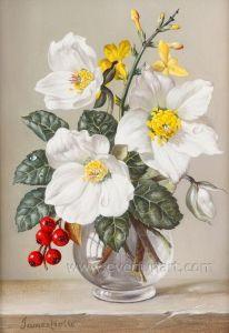 ハンドメイドの古典的なパレットナイフの花の油絵
