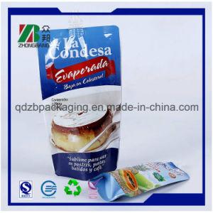 En forma de plástico laminado de Bolsa para paquete de gelatina con pico