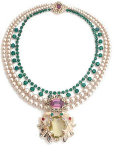 新しいガラス訓練Xl008は方法宝石類のたがの合金の花のアクセサリの真珠の不足分のネックレスの着く